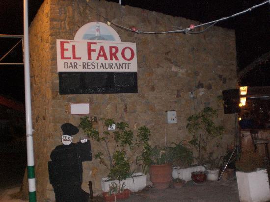 the entrance to El Faro