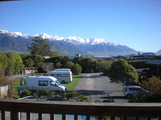 Alpine-Pacific Holiday Park: View from our balcony