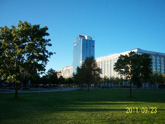 Scandic Infra City from the park in front