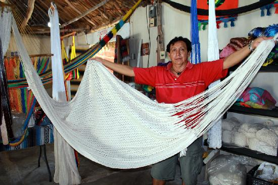 Puerto Morelos Artists' Cooperative: This is one of the hammocks we purchased