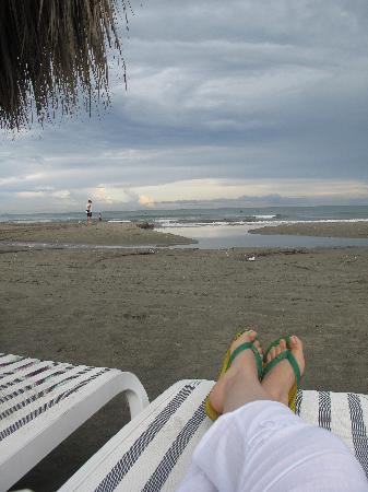 Hotel Las Américas Casa de Playa : playa privada justo afuera de nuestro bloque