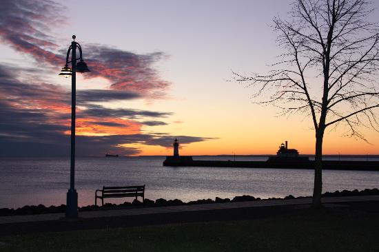 Duluth, MN: Sunrise over Canal Park--Part I