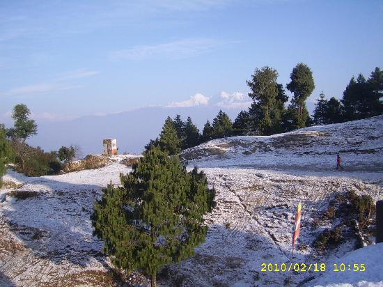 Nuwakot, Nepal: snow time