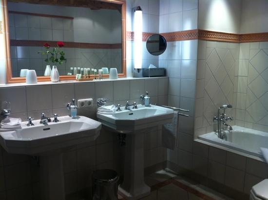 Hotel & Restaurant Alte Rheinmuhle: bain