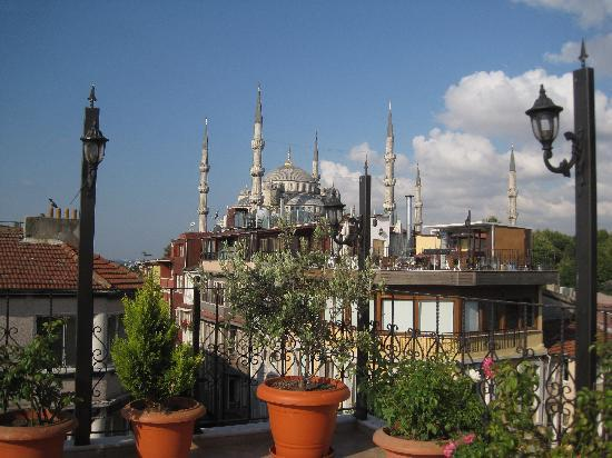 Side Hotel and Pension: view from rooftop terrace