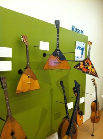 Musical Instrument Museum: exhibits are divided by country