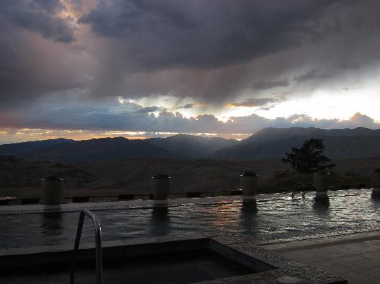 Amangani: Sunset over heated pool