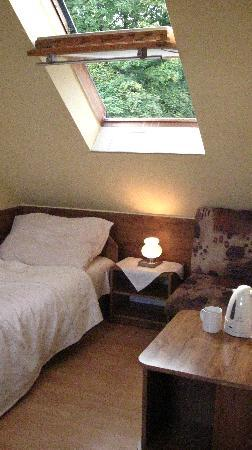 Pension Tiberia: Rather drab-looking single room in the attic