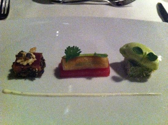 Lenkerhof gourmet spa resort: Thunfisch und Wasabi ... mhhhhh