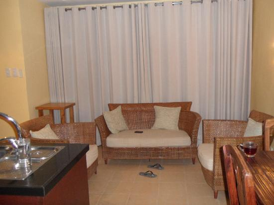 Boracay SandCastles The Apartments: common living room for the 2 bedroom standard