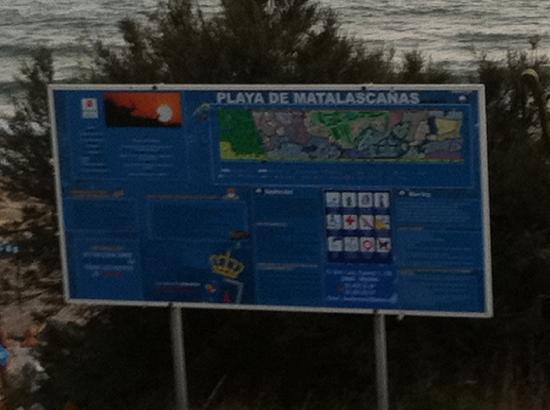 ALEGRIA El Cortijo: cartel de la playa
