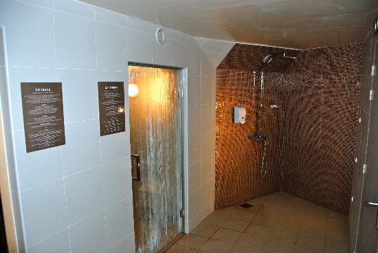 Hotel Les Cleunes Oleron: sauna hammam