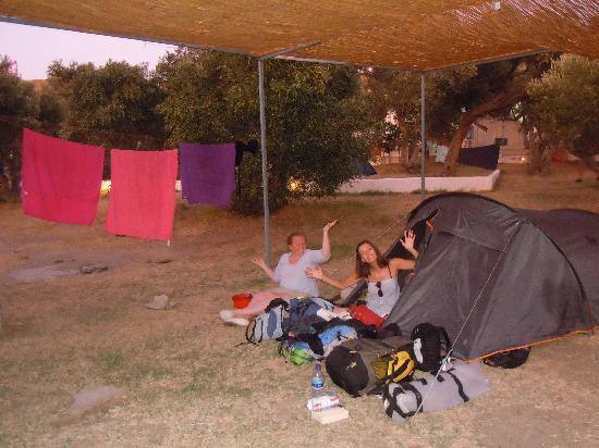 Camping Andros : Notre tente
