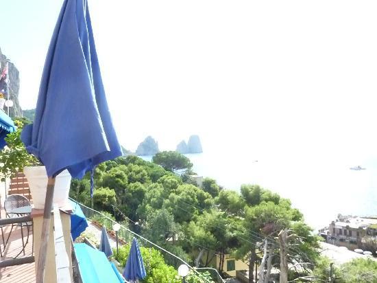 Hotel Weber Ambassador Capri: dal terrazzo