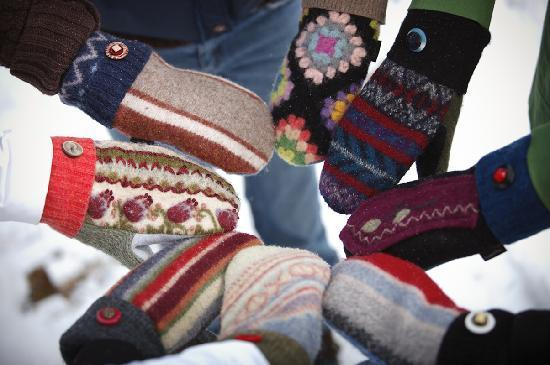 Handmade Mittens By Baabaazuzu Made Using Recycled Wool Sweaters