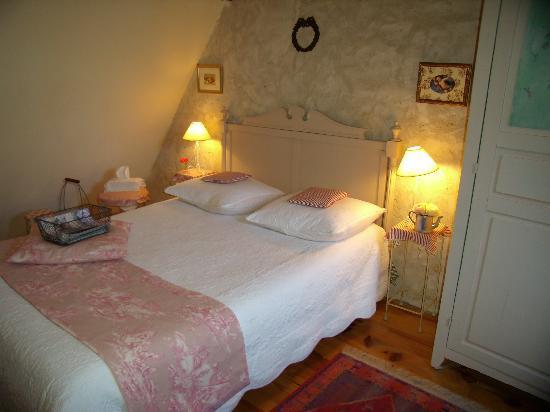 La Grange Bleue : la chambre de la suite familiale pour4 ou 5 pers