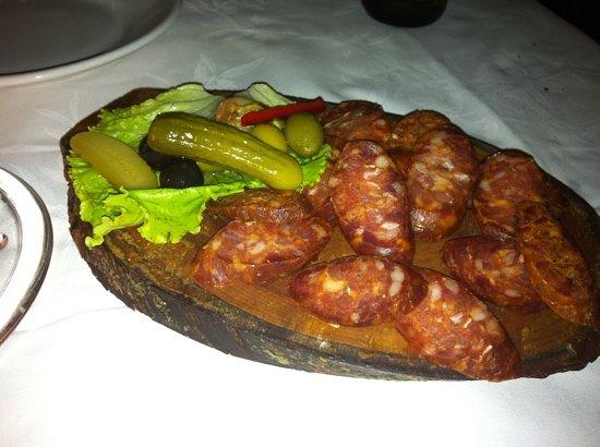 Konoba Didov San - Gornji grad : home made sausages (yum!)