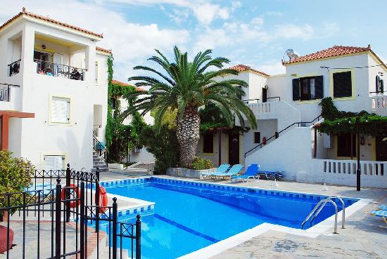 Pelagos Apartments: Pool view