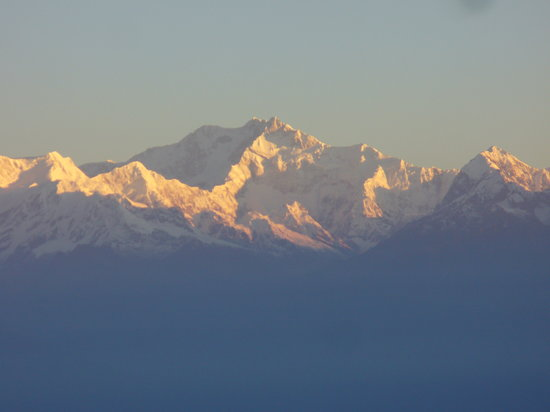 Darjeeling, Indien: sunrise on tiger hill