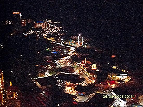 Marina Grand Beach: Nightime view of the resort from the skybar