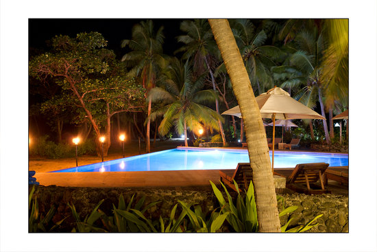 Yasawa Island, Fidschi: Pool at night