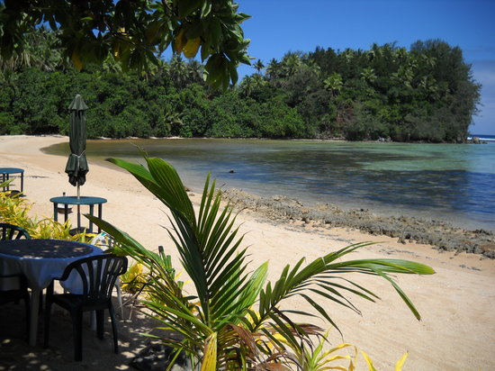 Neiafu, Tonga: Looking eastfrom the restaurant at Ene'io Beach