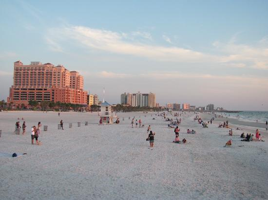 Clearwater Beach : Powdery white sand, huge beach
