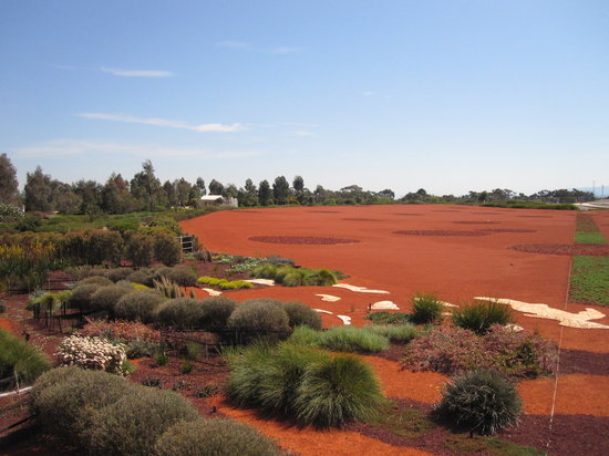 Cranbourne, Australia: The red sand garden