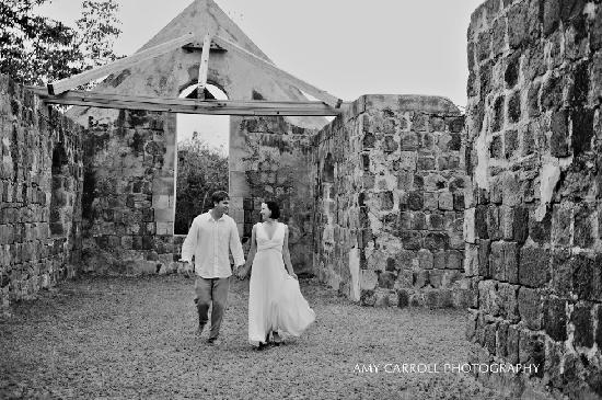 We really enjoyed taking pictures at Cottle Church after our beach wedding.