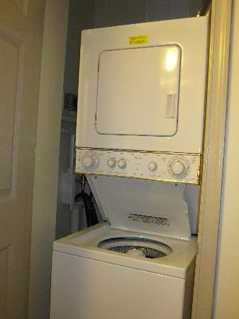 Oakwood Falls Church: Convenient stacked washer & dryer.