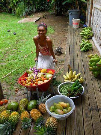 Ono Island, Fiji: Crop from resort's garden
