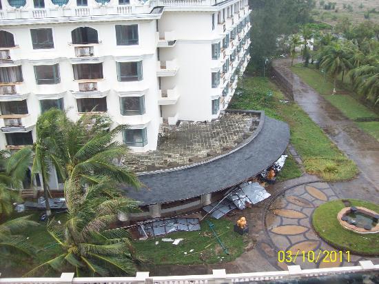 Crown Spa Resort Hainan: Blick aus dem Zimmerfenster