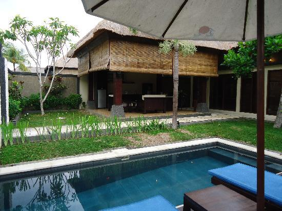 Bali Rich Luxury Villa: the view of our villas outdoor area