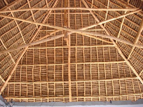 Panga Chumvi Beach Resort: the new bungalow makuti roof