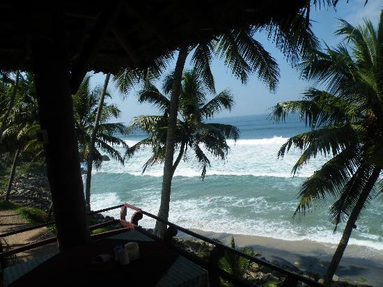 WoodHouse Beach Resort: View from the restaurant