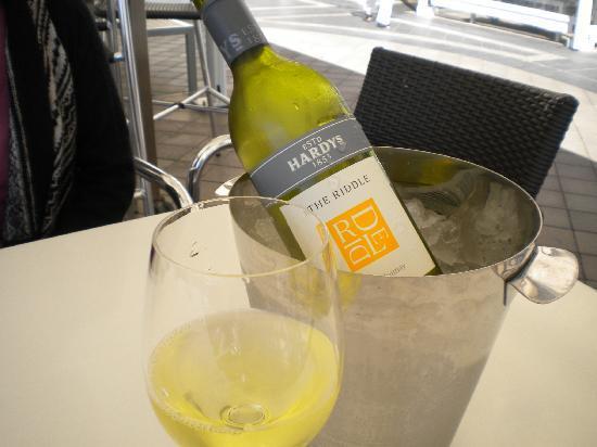 The Oyster Bar: house wine hardy's chardonney