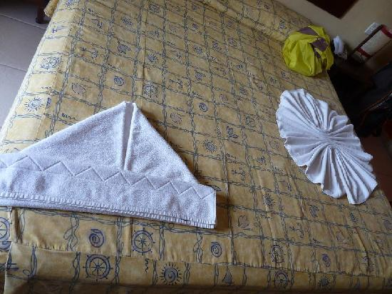 Porto Zarpa Hotel: Towel-art on arrival.