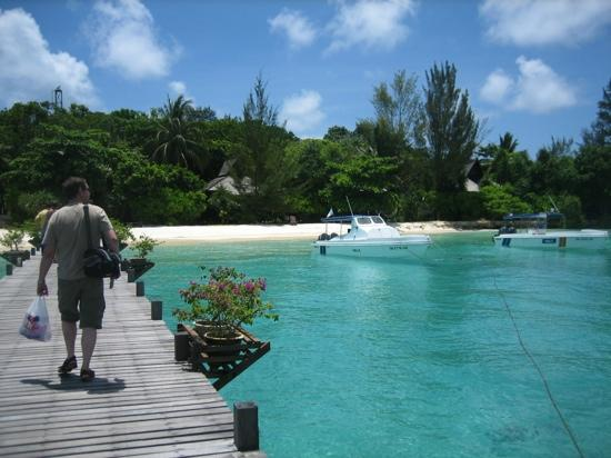 Lankayan Island Dive Resort: arriving
