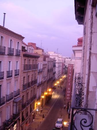Hostal Sardinero: View down Calle Prado (toward Prado Museum)