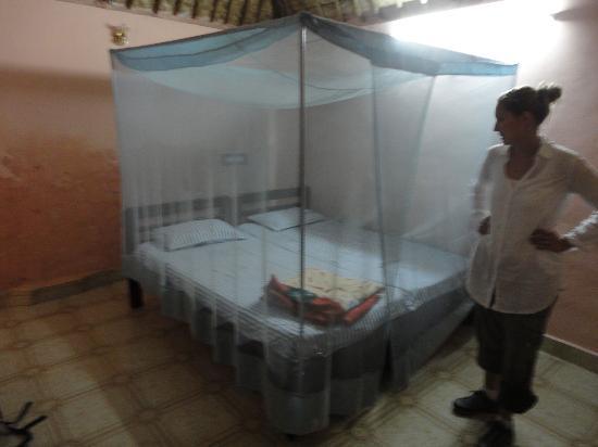 Shanthi Guesthouse: Bett