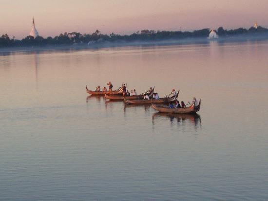 Birmanie (Myanmar) : Vistas desde el puente de teka más largo del mundo
