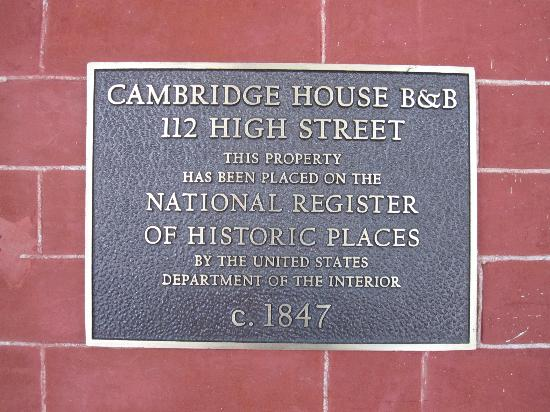 The Cambridge House: National Register of Historic Places