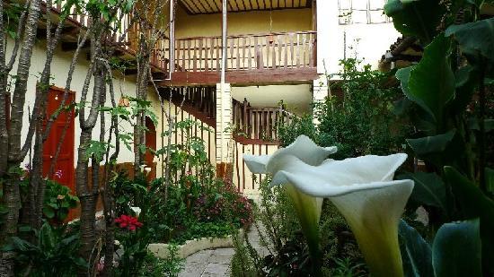 Hostal Villa Del Rosario: front garden area