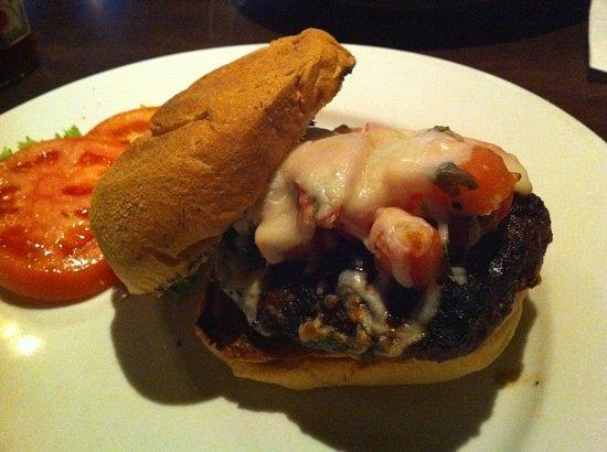 Broadway Grille: Angus Burger Bruschetta-Style