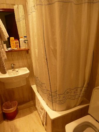 Hostal Avenida: baño.. pequeño pero limpio!