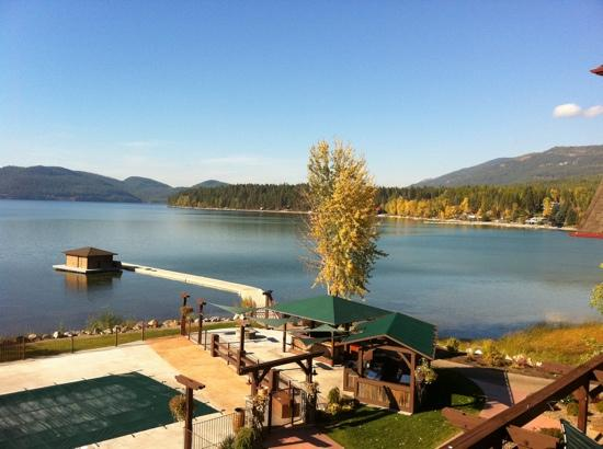 Lodge at Whitefish Lake: 180' lakefront view