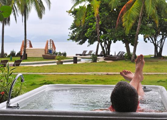 Punta Chame, Panama: Relaxing after wake boarding