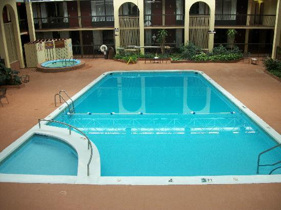 Quality Inn: pool and spa atrium