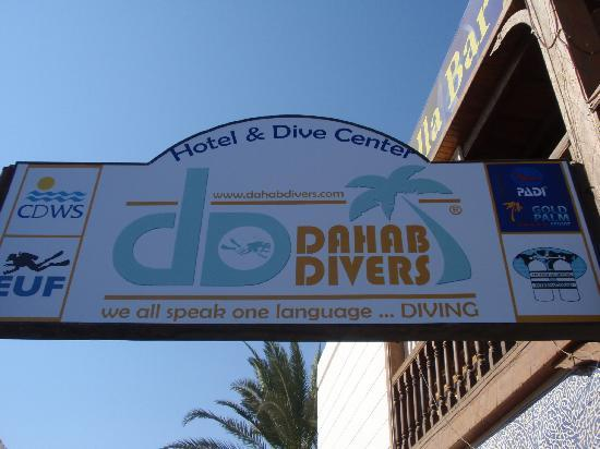 ‪‪Dahab Divers South Sinai Hotel & Dive center‬: Sign from street.‬