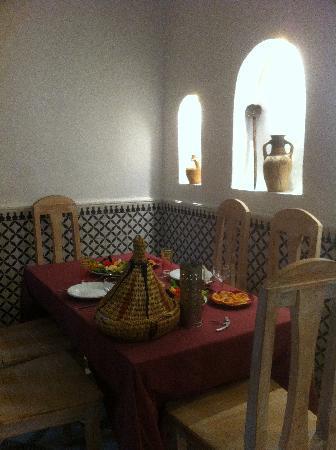 Riad dar Zaynab : La salle à manger